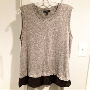 J. Crew Medium Tank Sleeveless Black Ruffle